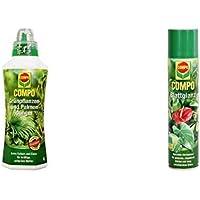 COMPO Grünpflanzen- und Palmendünger für alle Zimmer-, Balkon- und Terrassenpflanzen, Spezial-Flüssigdünger mit extra…