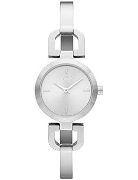DKNY Damen-Armbanduhr XS Analog Quarz Edelstahl NY8540
