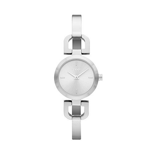 DKNY NY8540 - Reloj de cuarzo con correa de acero inoxidable para mujer, color blan