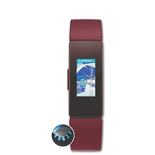 Preisvergleich Produktbild atFoliX Schutzfolie passend für Fitbit Inspire Folie,  ultraklare und Flexible FX Displayschutzfolie (3X)