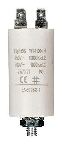 Eurosell Premium Kondensator Betriebskondensator Motorkondensator Anlaufkondensator Arbeitskondensator Steckeranschluss ohne Kabel 3,5 µF / 450 v + Earth