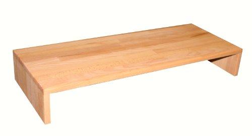 Isfort Holzhandels GmbH Tischaufsatz, Buche geölt, 80x32x12cm, großer, robuster Fernsehaufsatz, Bildschirmerhöher, Tischaufsatz (Plasma-tv-licht)