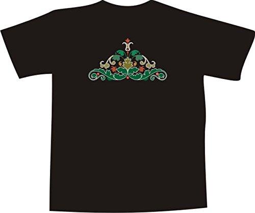 T-Shirt F1060 Schönes T-Shirt mit farbigem Brustaufdruck - tribal Farn Blatt Mehrfarbig