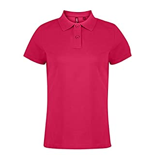 Asquith Fox Womens Classic Fit Polo Shirts Hot Pink 2XL