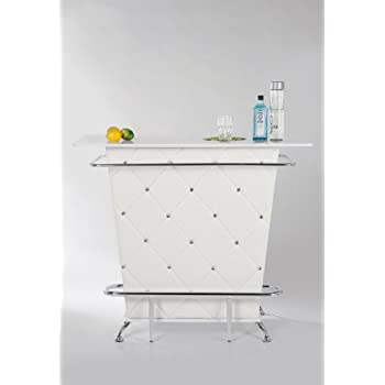 bar lady rock white extravaganter bartisch bartresen mit aufwendiger rautensteppung bartheke. Black Bedroom Furniture Sets. Home Design Ideas