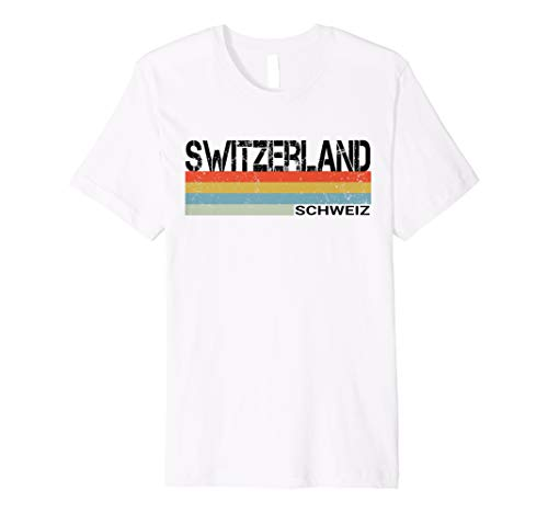 Switzerland- Schweiz Language Retro Style T Shirt