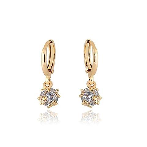 Womens Earring,Clode® 1Pair Ladies Girls Rhinestone Round Pendant Earrings Studs Jewelry for