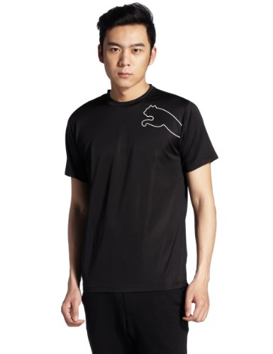 PUMA Herren T-Shirt Multi Cat Tee, Black, S, 508806 01 (Print Multi Tee)