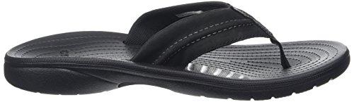 crocs Herren Yukon Mesa Flip Zehentrenner Schwarz (Black/Black)