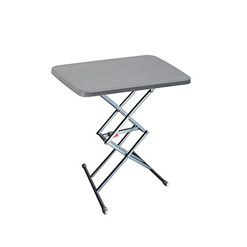 Table de Camping Pliable Portable réglable en Hauteur Multifonction extérieur Table de Pique-Nique pour Road Trip Petite Table rectangulaire en Aluminium léger