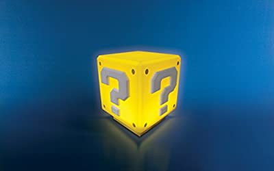 Super Mario Mini Question Block Light with Sound, Multi-Colour - low-cost UK light shop.