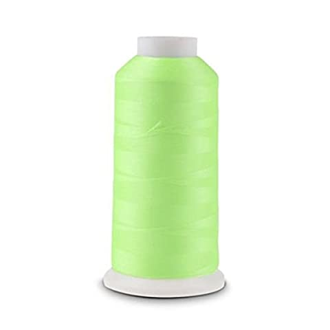 PIXNOR 3000 Yards Spool Luminous Glow In The Dark Machine Embroidery Sewing Thread (Green)
