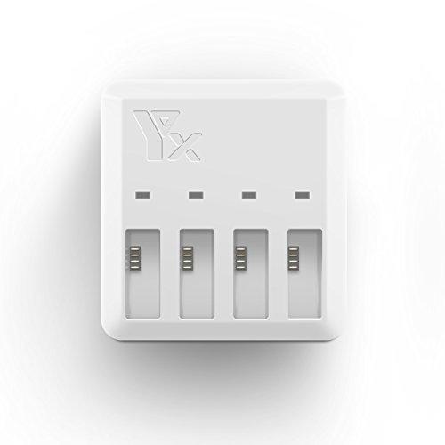 Kismaple TELLO Cargador de batería, 4 en 1 Cargador de batería paralelo rápido, Hub de carga inteligente de múltiples baterías para DJI Tello Drone