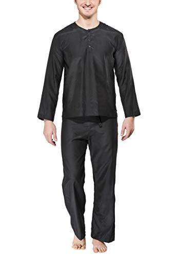 Cocoon Mens Travel Pyjamas Pirate Black (Size XX Large)