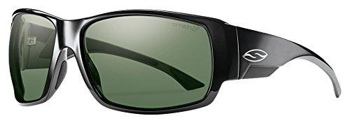 Smith Dockside/N Sonnenbrille Herren, Herren, Dockside/N, Shiny Black/Chroma Pop Grey Green Polar, 63 mm
