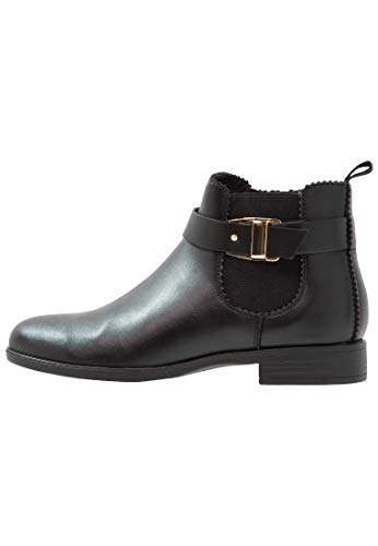 Anna Field Damen Ankle Boots - Stiefeletten mit elegantem Blockabsatz - Booties, Schwarz in 38