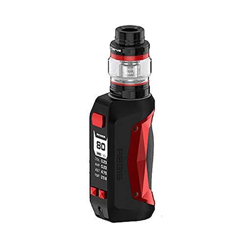 Geekvape Aegis Mini Kit 2200mAh mit Cerberus-Behälter 2ml, Kein Nikotin, keine E-Flüssigkeit (Schwarz Rot) -