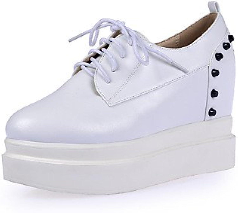NJX/ hug Zapatos de mujer-Plataforma-Cuñas / Plataforma-Tacones-Oficina y Trabajo / Vestido / Fiesta y Noche-Semicuero-Negro...