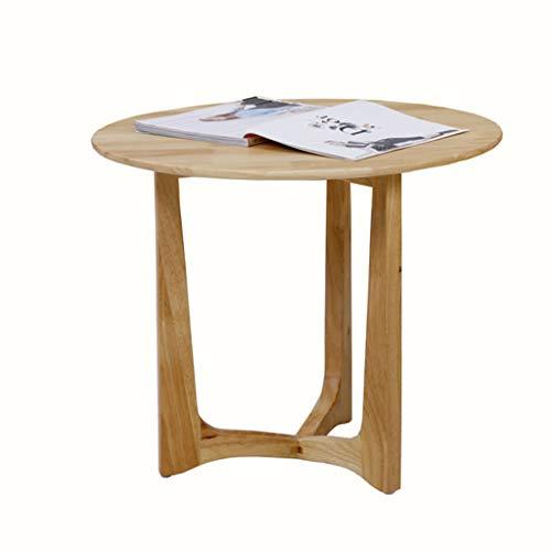 Tables basses en Bois Massif Petite Table Salon canapé côté décontractée (Color : Beige, Size : 50 * 50 * 51cm)