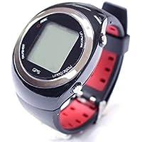 Montre POSMA GT2 à GPS intégré et calcul de distances, circuits de golf pré chargés sans téléchargements et sans abonnement, Canada, Europe, Australie, Nouvelle Zélande, Asie rouge