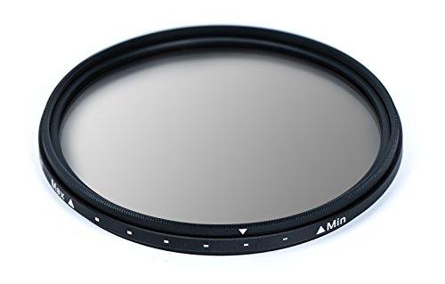 MC ND Filter Slim Neutral Graufilter, Variable Dichte: ND2-ND1000, 16-Schichten-Multi-Resistant Multi Coated aus Schott Glas, 72mm (Variabler Polarisationsfilter)