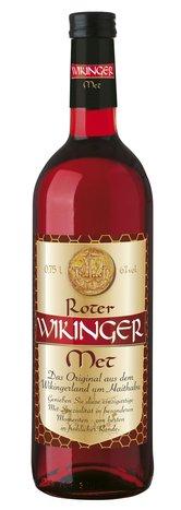 6 Flaschen Roter Wikinger Met Honigwein mit Kirschsaft Behn a 0,75L