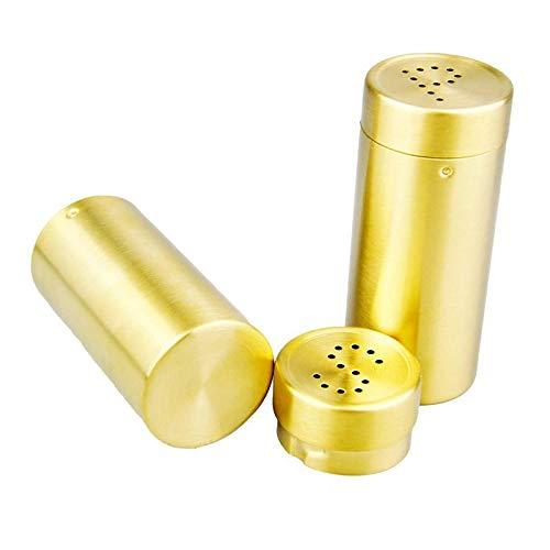 2 Stück/Set Gold Edelstahl Gewürzgläser Gewürzgläser Gewürzflaschen Set Salz/Pfeffer Streuer Gewürz/Menu/Sauce Kochwerkzeuge Sauce Boat Set