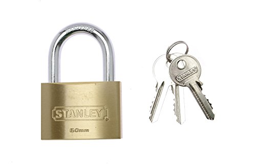 Stanley Solid Brass Standard Shackle Padlock - 60mm