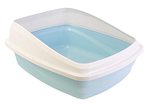 catit Toilette per Gatti con Bordo M 38X48X19Cm Blu/Grigia, Blue, M