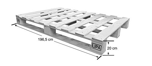 LIPA Palettenbett Bett Holz Massivholzbett – hergestellt in BRD - 5
