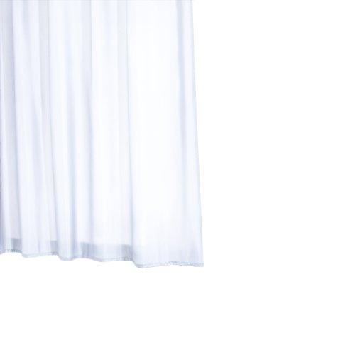 Ridder 45401-350 Duschvorhang Textil ca. 240 x 180 cm, Madison weiß inklusive Ringe