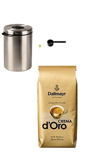 Xavax Kaffeedose für 1kg Kaffeebohnen, Tee, Kakao, mit Aromaverschluss, Edelstahldose, silber...