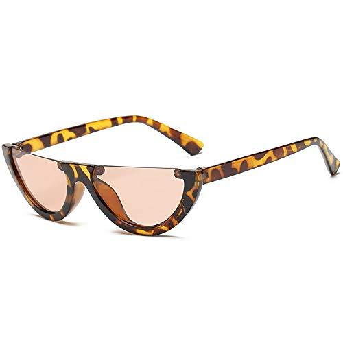 AAMOUSE Sonnenbrillen Die Hälfte der Damen-Sonnenbrillen-Designer-Damenmode färben rosa klare Gläser Sonnenbrillen für Frauen