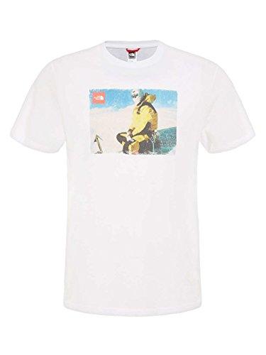 THE NORTH FACE Herren Kurzärmliges Shirt Seasonal Print TNF WHITE