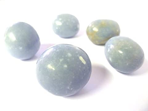 Tumbled Angelite Angelic Reiki Tumble Stone - A Grade Quality Crystal - Helps you connect with angels - Free Postage!
