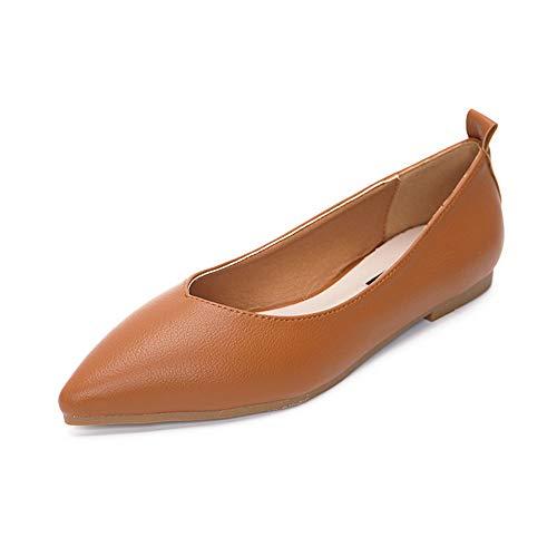 Damen Casual Geschlossene BallerinasRetro Oma Schuhe braun 41 Womens Brown Tweed
