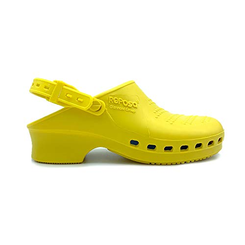REPOSA - Zuecos para mujer Amarillo amarillo