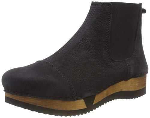 Sanita Damen Wood resa Sport Flex Chelsea Boots, Schwarz (Black 2), 36 EU