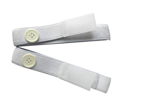 Cinghie con velcro e bottone, per fissare la sacca del drenaggio alla gamba
