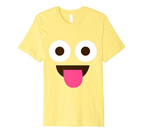 Zunge Emoji Witziges Lustig Karneval Shirt Faschings - Einfache Last Minute Kostüm Kinder