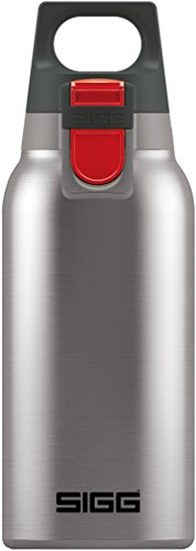 Sigg Hot & Cold One Brushed, Vakuum-Isolierte Thermo-Flasche aus Edelstahl, 0.3 L BPA Frei, Silber