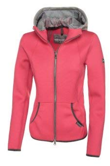 Pikeur DamenTech Fleee Jacke Gracee mit Kapuze, Rouge red, 38