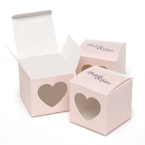 Hortensia B. Hewitt Wedding Accessories Herz Fenster Favor Boxen, 25 Count, Papier, pink Blush, 2 - Inch