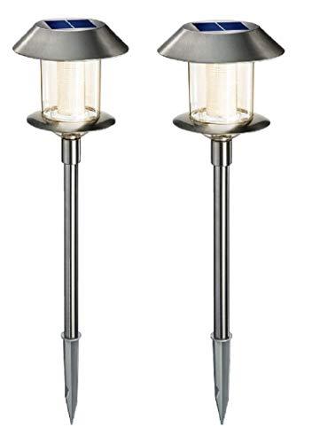 BUVTEC Esotec Duo Color Solarleuchte 'Swing' Esotec 2er Pack Lichtfarbe warm- und kaltweiss umschaltbar 160102070