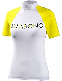 Billabong Ladies Regular Short Sleeve Rash Vest in Limeade P4GY01