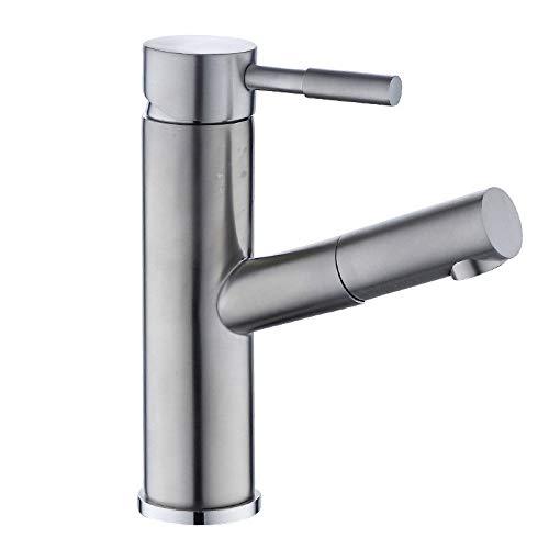 ROTOOY Wasserhähne Edelstahl Pull Tasse Waschbecken Wasserhahn Teleskopischen Shampoo Becken Bad Wasserhahn (Tasse Küche Pulls)