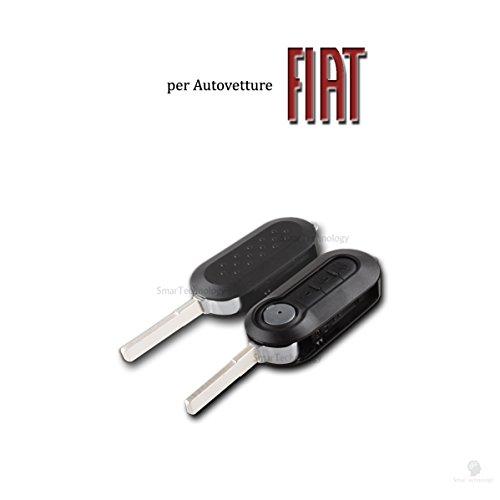 Coque de clé 3boutons pour plip Fiat 500500L PANDA PUNTO EVO Bravo doblo