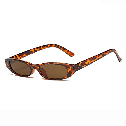 DX Ladies Small Frame Outdoor-Shopping Fotografie Lässige Mode Komfortable Anti-Glare-Brille Polarized Shade Glasses (Farbe: Tortoise Frame Brown Lens)