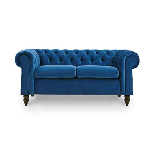 Decoinparis - divano chesterfield a 2 posti, in velluto, colore: winston