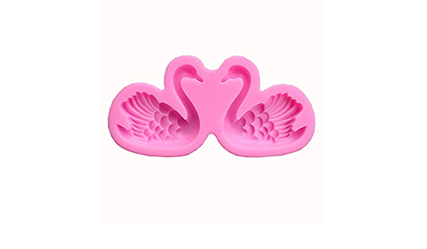 Cute Swan Silicone Fondant Cake Decorating Mold Cookie Pastry Baking Mould PF